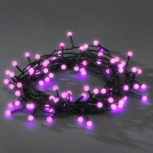 LED Globe-Lichterkette 80er lila aussen 6,32m Konstsmide 3691-457 xmas  | Tadellos