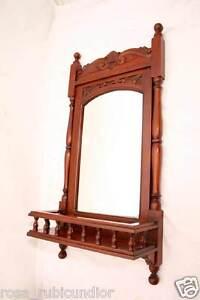 zauberhafter edlholz spiegel mit galerie flurspiegel m ablage u s ulen kol ebay. Black Bedroom Furniture Sets. Home Design Ideas