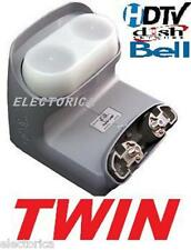 "LEGACY TWIN DUAL HD LNB BELL DISH NETWORK W/ SWITCH SW21  82 91 110 119 500 20"""