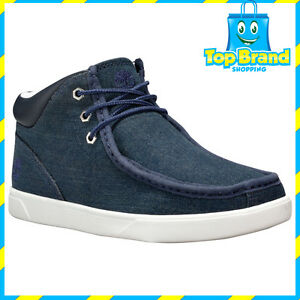 44f42aec57195 Image is loading Timberland-groveton-chukka-BOOT-Blue-Denim-Mens-Boots-