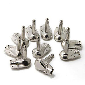 10x-Pancake-Winkel-Klinkenstecker-Mono-6-3mm-Metall-Right-Angle-Jack-Plug