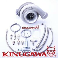 Kinugawa Ball Bearing Billet Turbocharger 4 Gt3582r A/r .89 T3 V-band External