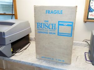 New Old Stock Anheuser Busch Beer Spinning Drum Motion Sign - Non-Lighted IN BOX
