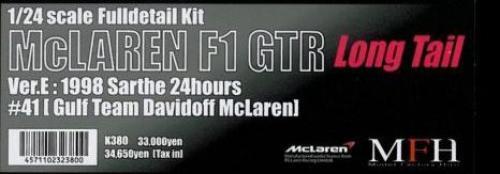 Mfh Model Factory Hiro Mclaren F1 GTR Cola Larga K-380 Ver.e Fulldetail Kit