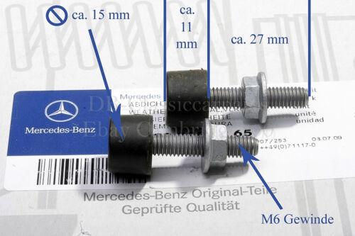 ORIGINAL MERCEDES 2 Gummipuffer Motorhaube W126 W201 R129 W202
