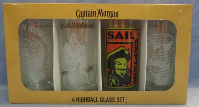 Captain Morgan Rum 16oz Highball Glass Set Of 4 For Sale Online Ebay