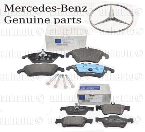 Genuine Mercedes-Benz E250 E350 E400 Front /& Rear Brake Pad Set