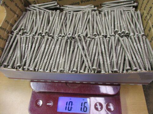 """990 10 Pounds GRK  2-1//2/"""" x #9  SAND COMPOSITE Deck Screws ACQ  KAMELEON T-20"""
