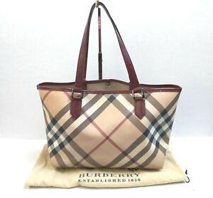 Burberry Shoulder Bag Handbag Large Nova Check VGC Beige + Dust Bag Authentic