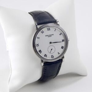 958c8fb7ab4 Patek Philippe Calatrava Ref. 3919 18 kt White Gold Manual Strap ...