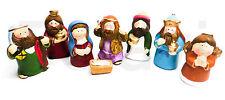 Krippenfiguren ca. 10 cm Satz kompl. 8- teilig Weihnachtskrippe Kinder NEU (F76)