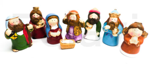 10 cm Satz kompl 8- teilig Weihnachtskrippe Kinder NEU Krippenfiguren ca F76