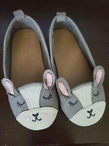 toddler-sz-6-OLD-NAVY-bunny-BOSTON-FRENCHIE-suede-FLAT-BALLET-animal-shoes-girls