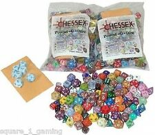 CHESSEX POUND O DICE 80-100 DICE ASSORTED 001LB Gaming AD&D FREE PRIORITY MAIL