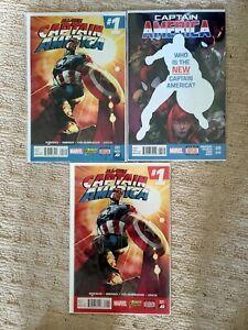 All New Captain America #1 1st & 2nd Print #25 2nd Print Sam Wilson as Cap