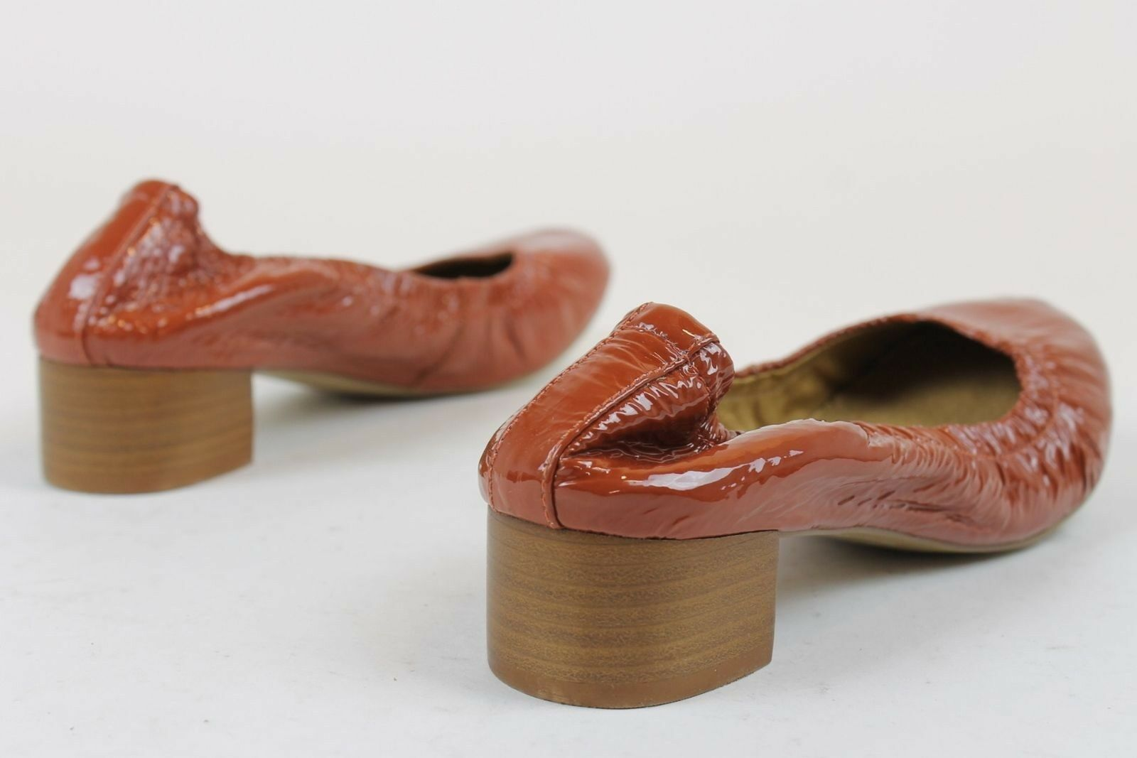 Anthropologie Gilen 6.5 Stacked Heels Ruby ROT US 7 US 6.5 Gilen f8f5b4