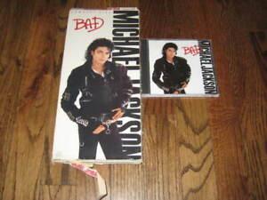 Michael Jackson BAD  longbox and Original cd! -Rare!  Billie Jean  Beat it