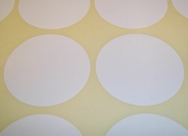 60 White 45mm 1 3/4 Inch Colour Code Dots Round Stickers Sticky ID Labels