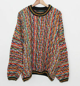 Tundra Canada 3d Knit Texturiert Biggie Hip Hop COOGI Style Bill Cosby Pulli Herren LRG