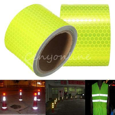 "2""X10' Fluorescence Yellow Night Reflective Safety Warning Conspicuity Tape"