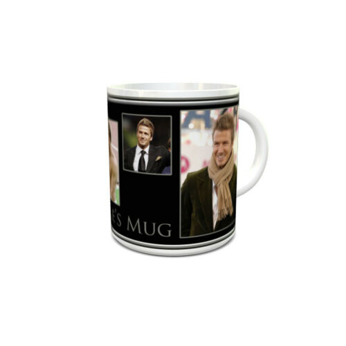 David Beckham custom printed mug personalised with your name unique unusual gift
