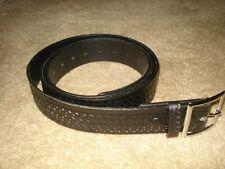 "Boston Leather 6605-1-34B Plain Black Brass HW 1-3//4/"" Garrison Belt 34/"""