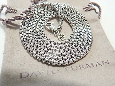 Sterling Silver 3.6mm Round Box Chain Necklace 24in Necklace