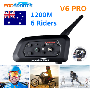 1200m-6-Riders-Motorcycle-Intercom-Bluetooth-Helmet-Headset-V6-BT-Communication