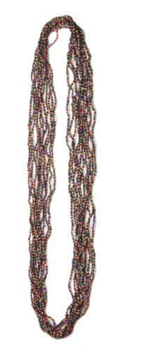 Vibrant /& Flamboyant 10 Stranded Long Multicolour Beaded Necklace Zx84