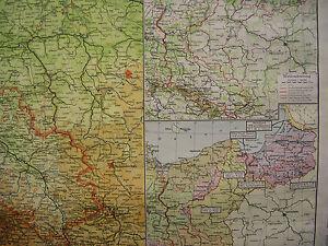 Schulwandkarte-Wandkarte-map-Schlesien-Pommern-Ostpreussen-Posen-133x78-1952