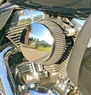 CHROME DOMED ROUND AIR FILTER COVER harley hd 5-1//2 softail bobber k/&n cleaner