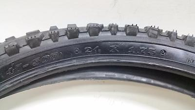 2 Bicycle Tire Tyre Mountain Bike ATB MTB 24x1.95 Black Traction Dirt Jumping
