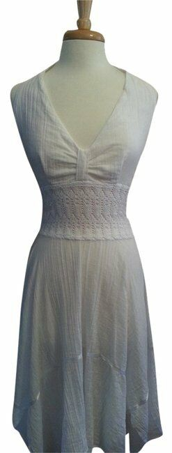 Weiß Ladies Halter Linen OneGröße Casual Maxi Dress
