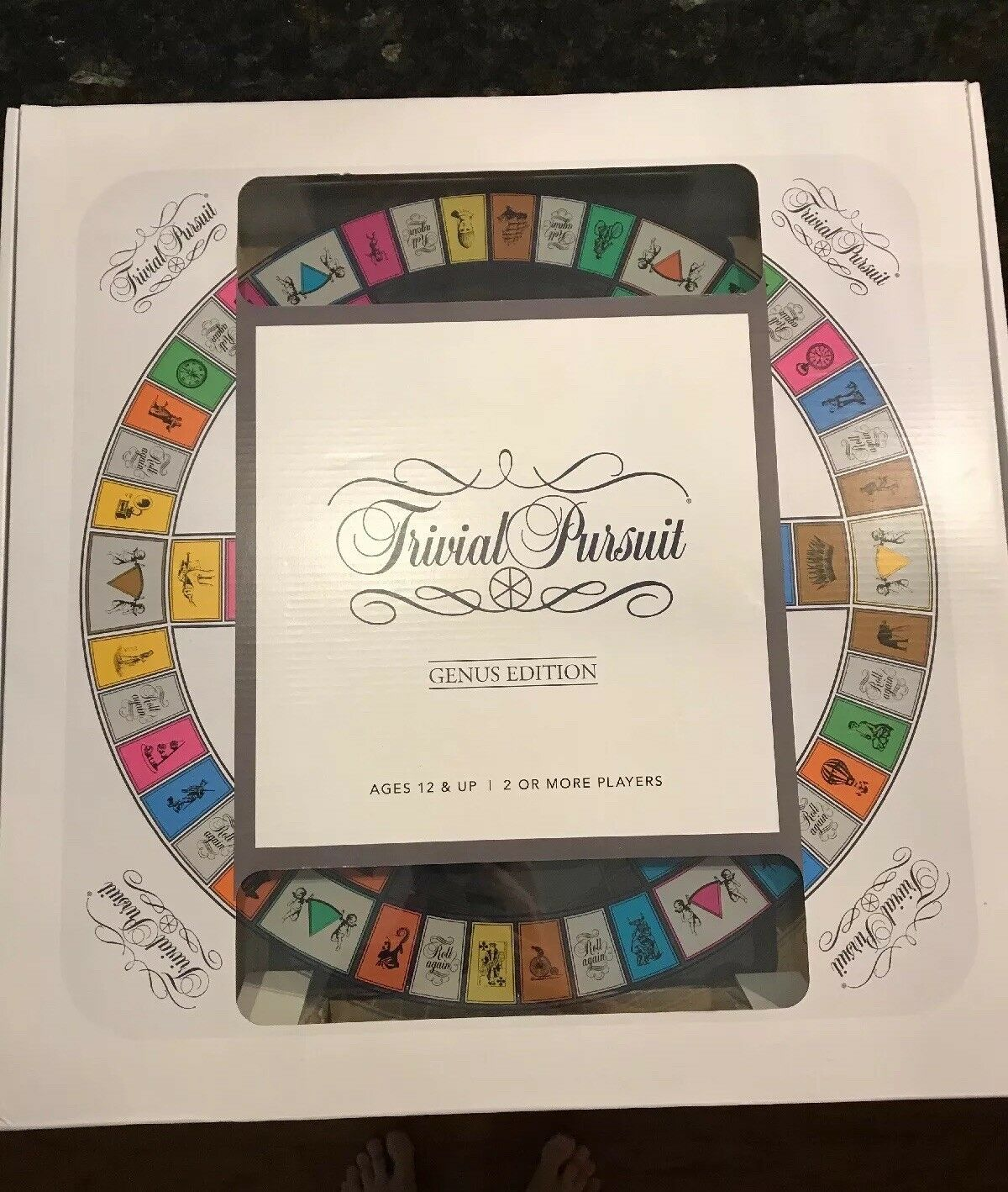 Brand New Trivial Pursuit Genus Edition TempeROT Glass Game Board Trading Game