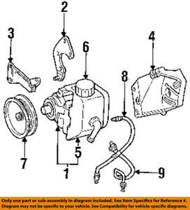 jeep chrysler oem grand cherokee power steering pump mount bracket rh ebay com jeep yj fuel pump diagram jeep liberty fuel pump diagram