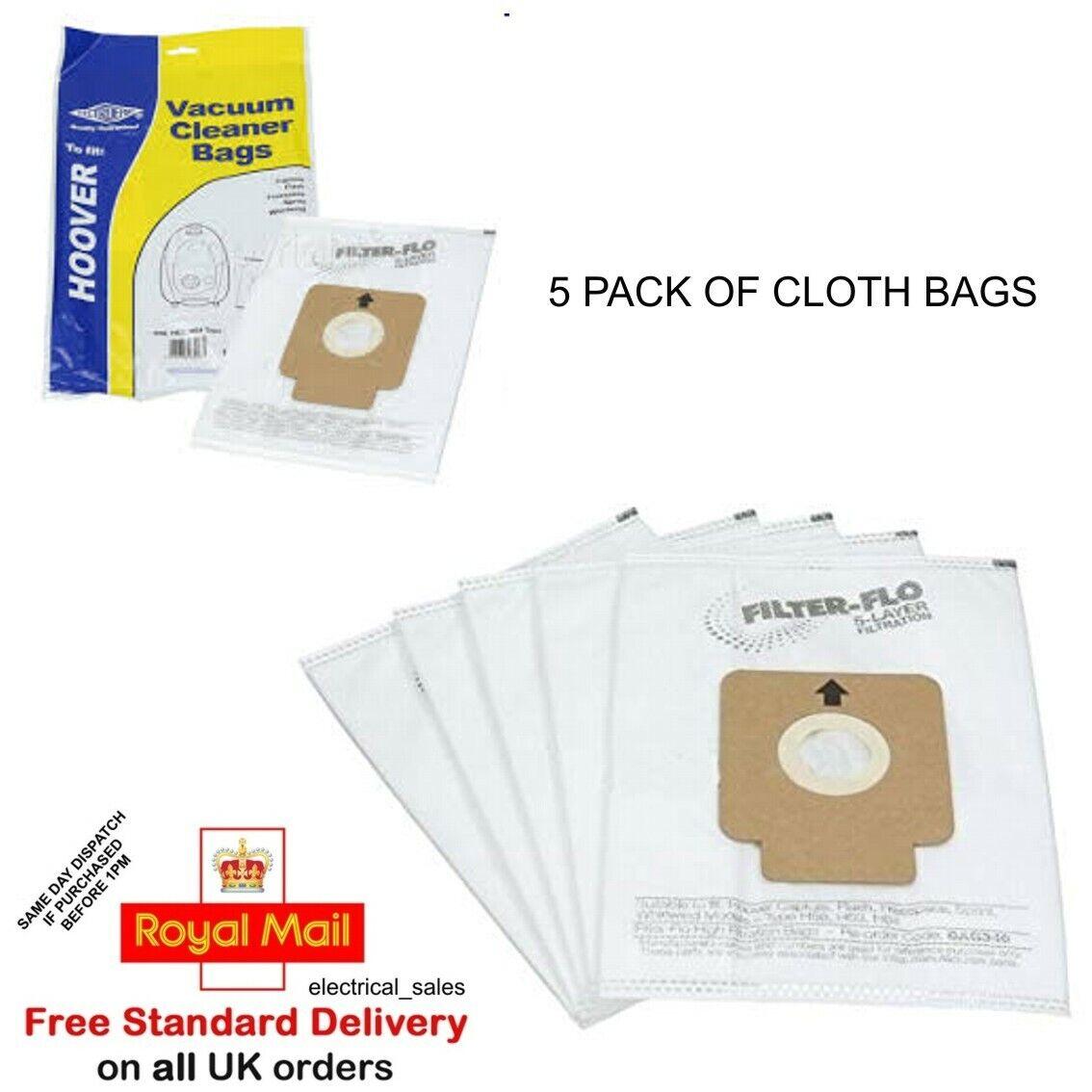 Genuine Hoover H64 Vacuum Cleaner Hoover Paper Dust Bags 5 Pack