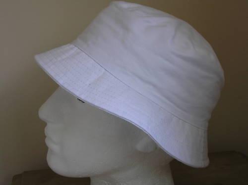 WHITE BUCKET SUN HAT 100/% COTTON M L XL 58 59 60 CM NEW