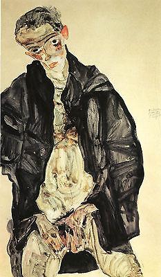 Self Portrait Fine Art Print Egon Schiele Reproductions