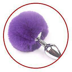 Funny Beginner Red Fox Faux Tail Plug Butt Stopper Anal Slicone Adult Toy Game A