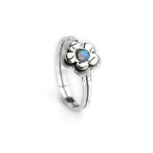 Designer Silver Opal Heart Ring Handmade Aviv range