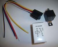 (1) 12v Dc Spdt 30/40a Relay & Socket Harness 5 Wire 16-14 Ga Gauge Plug End