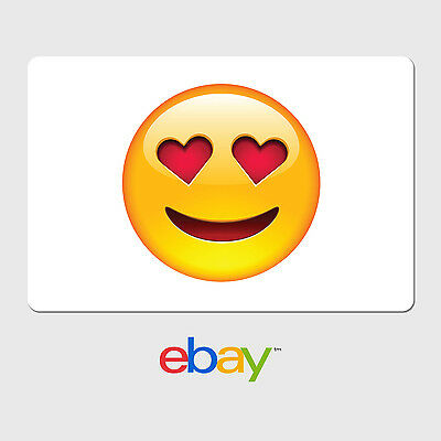 eBay Digital Gift Card - Heart Eyes Emoji - Fast Email Delivery