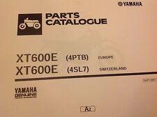 YAMAHA XT 600E PARTS LIST MANUAL CATALOGUE 4PTB 4SL7 Paper bound copy
