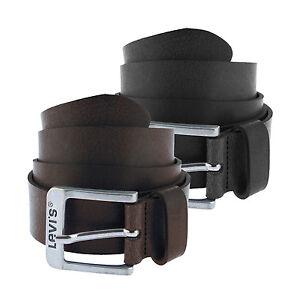 Levi-039-s-0610-seguito-Uomo-Designer-Marrone-Nero-100-CINTURA-IN-PELLE-NUOVA-con-etichetta
