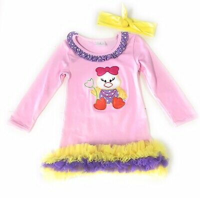 Toddler Girl Never Stop Dreaming Boutique Dress Outfit Kids Clothing Headband
