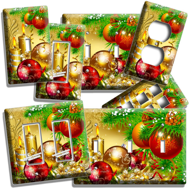 CHRISTMAS TREE ORNAMENTS CANDLES LIGHT SWITCH OUTLET WALL ...
