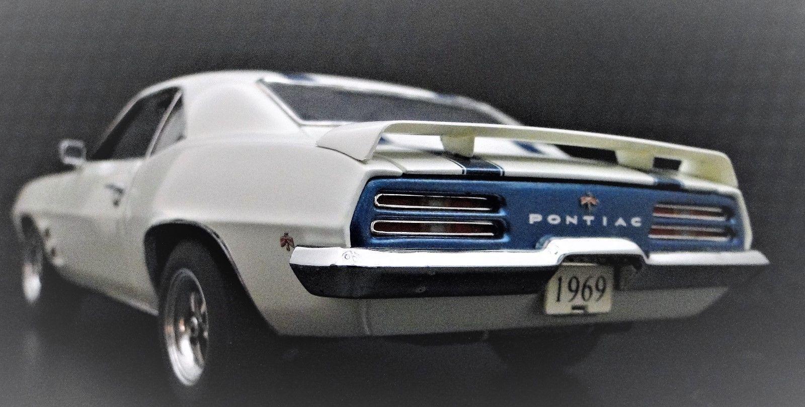 Pontiac Trans Am 1969 Firebird 1 SPORT RACE CAR 12 Vintage 24 Metal 18 Racer 43