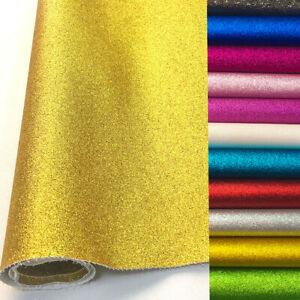 Frosted-Glitter-Vinyl-Fabric-Sparkle-Faux-Leather-Craft-Material-Bows-Decor