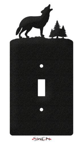 Commutateur plaque Wolf Wildlife Interrupteur de lumière plaque couvre