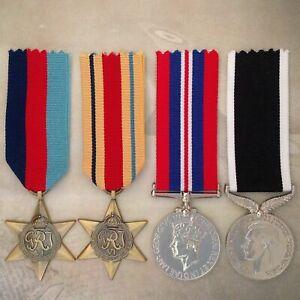WWII AFRICA STAR + NZ WAR SERVICE MEDAL SET   WORLD WAR TWO   ANTIQUE TONE